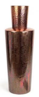 Casa Padrino Luxus Deko Vase Kupferfarben Ø 20 x H. 74 cm - Designer Aluminium Blumenvase