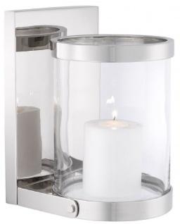 Casa Padrino Luxus Wandkerzenleuchter Silber 17, 5 x 19, 5 x H. 25, 5 cm - Wandkerzenhalter - Deko Accessoires - Vorschau 1