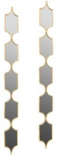 Casa Padrino Designer Metall Spiegel Set Gold 148 cm - Luxus Wandspiegel 2er Set