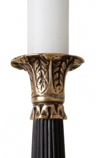 Casa Padrino Luxus Kerzenständer Messing Finish Paris - schwere Ausführung - Kerzenhalter Kerzenleuchter - Vorschau 3