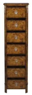 Casa Padrino Luxus Jugendstil Kommode mit 7 Schubladen Braun 35 x 30 x H. 127 cm - Luxus Qualität - Vorschau 4