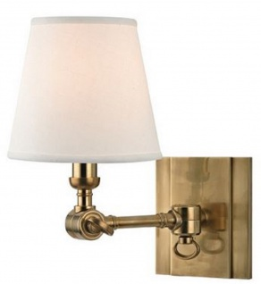 Casa Padrino Luxus Wandleuchte Antik Messing / Weiß 15, 2 x 24, 1 x H. 25, 4 cm - Wandlampe mit Schwenkarm