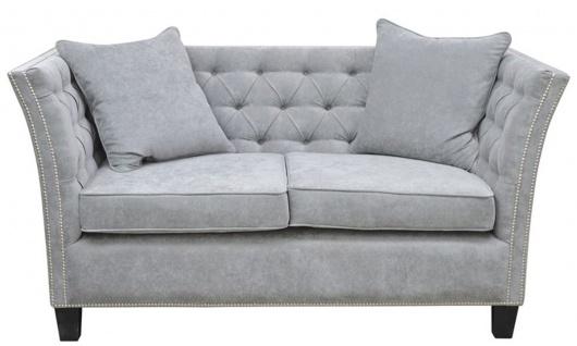 Casa Padrino Luxus Chesterfield Samt Sofa mit Kissen 174, 5 x 91 x H. 86 cm - Verschiedene Farben - Wohnzimmer Möbel - Chesterfield Möbel