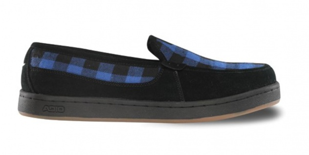 Adio Skateboard Slipper Blau Schuhe Thurston schwarz / Blau Slipper Plaid - Slip On - Slip Ons ad38c2