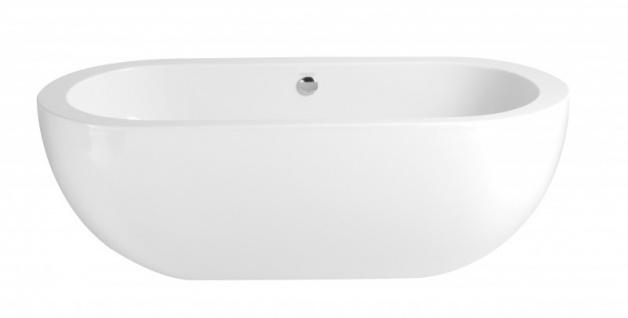 Casa Padrino Art Deco Badewanne freistehend Weiß Modell He-Ele 1800mm - Freistehende Retro Antik Badewanne Barock