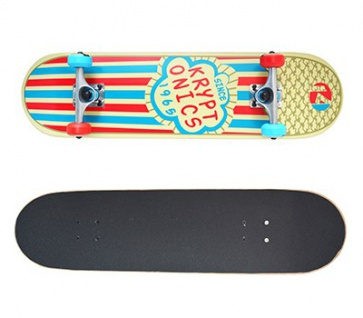 Kryptonics Skateboard Komplettboard Star Series Popcorn 7.75 x 31.0 inch - Special Edition mit Koston Kugellagern