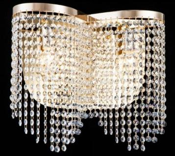 Casa Padrino Barock Kristall Wandleuchte Gold 40, 5 x H 35 cm Antik Stil - Wandlampe Wand Beleuchtung