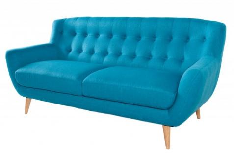 Chesterfield 3er Sofa blau aus dem Hause Casa Padrino - Wohnzimmer Möbel - Couch - Vorschau 3