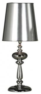 Casa Padrino Tischleuchte / Tischlampe Silber 24 x H. 57 cm - Wohnzimmer Deko