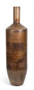Casa Padrino Luxus Deko Aluminium Vase / Blumenvase Bronze Ø 20 x H. 76 cm - Wohnzimmer Dekoration
