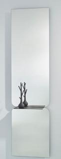 Casa Padrino Luxus Spiegel Schwarz 47 x H. 180 cm - Designer Wandspiegel mit pulverbeschichtetem Aluminium Regal
