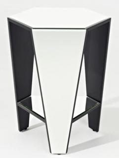Casa Padrino Luxus Spiegelglas Beistelltisch 45 x 40 x H. 56 cm - Designermöbel