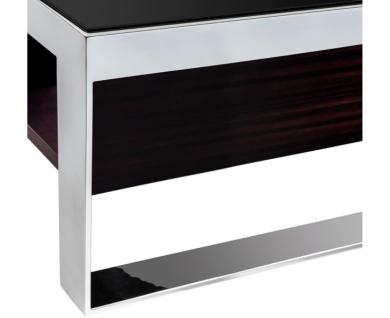 Casa Padrino Art Deco Luxus Couchtisch Ebenholz 140 x 80 x H. 35 cm - Wohnzimmer Salon Tisch - Luxus Möbel - Vorschau 3
