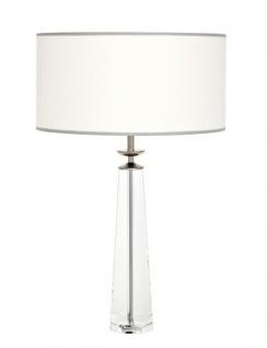 Casa Padrino Luxus Tischleuchte Nickel Durchmesser 12 x 50 x H 77 cm - Luxus Leuchte