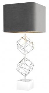 Casa Padrino Luxus Tischleuchte Silber / Grau 40 x H. 98 cm - Designer Tischlampe
