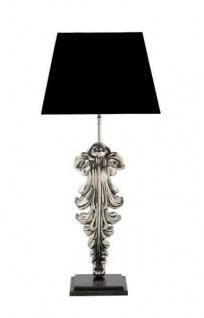 Casa Padrino Luxus Tischleuchte Nickel Durchmesser 17 x 35 x H 77 cm - Luxus Hotel Leuchte