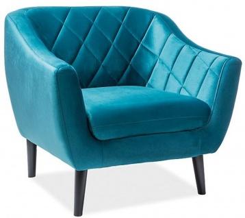 Casa Padrino Luxus Samt Sessel 105 x 85 x H. 83 cm - Verschiedene Farben - Wohnzimmer Sessel - Wohnzimmer Möbel
