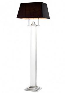 Casa Padrino Luxus Stehleuchte Nickel Durchmesser 27 x 50 x H 158 cm - Luxus Leuchte