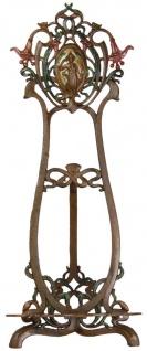 Casa Padrino Jugendstil Gusseisen Staffelei Antik Braun / Mehrfarbig H. 64 cm - Barock & Jugendstil Deko Accessoires