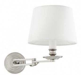 Casa Padrino Luxus Wandleuchte White Shade Weiß vernickeltes Metall - Wand Leuchte Lampe