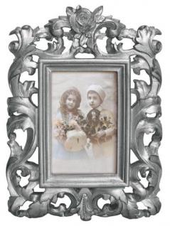Casa Padrino Barock Bilderrahmen 28 x 20 cm Silber - Bilder Rahmen Foto Rahmen Jugendstil Antik Stil Mod AX26 - Vorschau