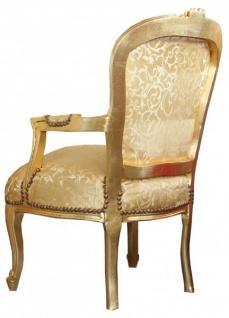 Casa Padrino Barock Salon Stuhl Gold Muster / Gold - Vorschau 2