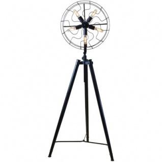Casa Padrino Studioleuchte Schwarz 173 cm - Steh Leuchte Lampe im Vintage Marine Stil