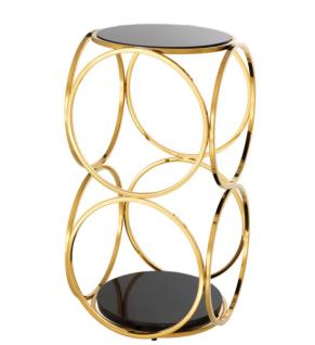 Casa Padrino Luxus Art Deco Designer Beistelltisch Gold 32 x 32 x H. 61, 5 cm - Luxus Qualität