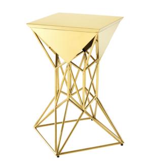 Casa Padrino Luxus Art Deco Designer Beistelltisch Gold 36 x 36 x H. 60 cm - Luxus Designer Tisch