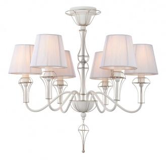 Casa Padrino Barockstil Kronleuchter mit dekorativer Golddraht Umrahmung - Barockstil Leuchten & Lüster