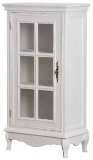 Casa Padrino Landhausstil Kommode Antik Weiß 52 x 30 x H. 101 cm - Shabby Chic Möbel