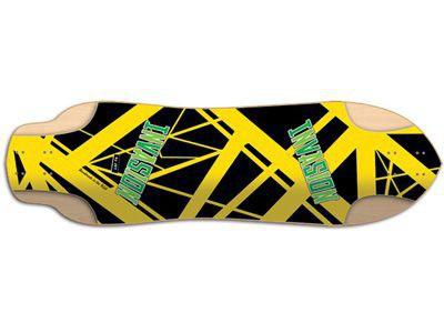 "JET Invasion Series Peanut Eddie V Longboard Deck 9.5"" x 34.0"" - Cruiser Longboard Deck"