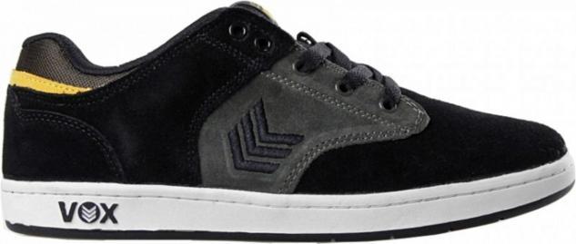 Vox Skateboard Schuhe Lockdown Schwarz/Grau/Gelb
