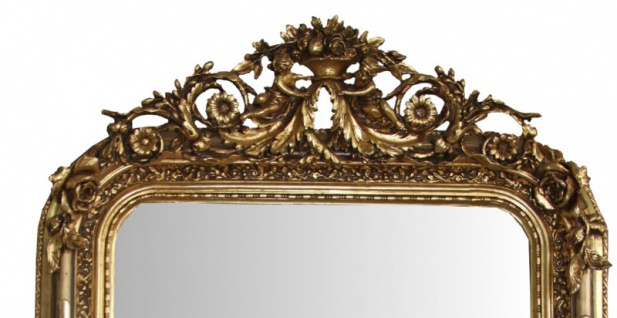 Casa Padrino Barock Wandspiegel Gold Antik-Look Höhe 157 cm, Breite 89 cm - Edel & Prunkvoll - Vorschau 2