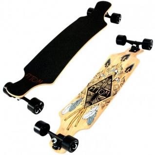 Atom Drop Down Longboard Komplettboard 39.0 x 9.5 inch Slant Tiki - Komplett Longboard Complete Dropdown Downhill mit Koston Kugellagern