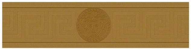 Versace Designer Barock Vliestapete Greek 935222 Gold / Kupfer - Bordüre - Design Tapete - Luxus Qualität