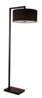 Casa Padrino Luxus Stehleuchte Schwarz 55 x H. 165 cm - Wohnzimmer Stehlampe mit schwarzem Lampenschirm