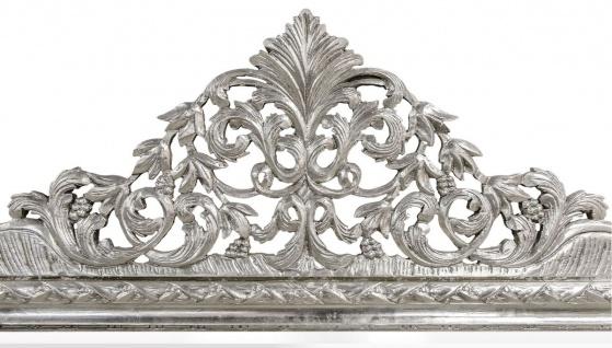 Casa Padrino Barock Wandspiegel Silber 190 x H. 155 cm - Wohnzimmer Spiegel im Barockstil - Vorschau 2