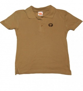 Hanes Skateboard Girlie Polo T-Shirt Beige 1