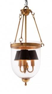 Casa Padrino Luxus Laterne - Luxus Messing Hängeleuchte Durchmesser 32 x H 70 cm - Vorschau 3