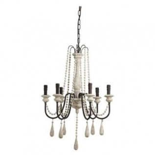 Casa Padrino Barock Decken Kronleuchter Antik Weiß Durchmesser 60 x H 89 cm Antik Stil - Möbel Lüster Leuchter Deckenleuchte Hängelampe
