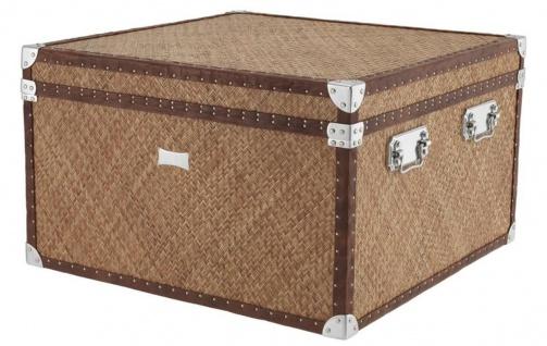 Casa Padrino Luxus Couchtisch im vintage Koffer Design 85 x 85 x H. 51 cm - Designer Möbel