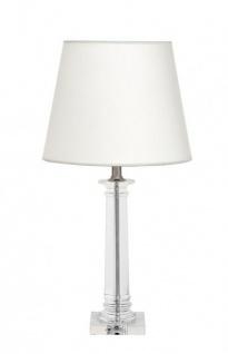 Casa Padrino Luxus Tischleuchte Nickel Durchmesser 13 x 35 x H 70 cm - Luxus Leuchte