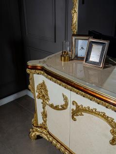 Casa Padrino Luxus Barock Möbel Set Sideboard mit Spiegel - Prunkvoller Massivholz Schrank mit Wandspiegel - Edle Möbel im Barockstil - Luxus Qualität - Vorschau 5