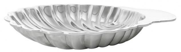 Casa Padrino Luxus Muschel Serviertablett Silber - Designer Tablett - Vorschau 3