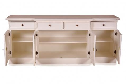 Casa Padrino Shabby Chic Landhaus Stil Kommode Weiß B 217 cm - H 90 cm Möbel Diele Esszimmer Schrank - Vorschau 2
