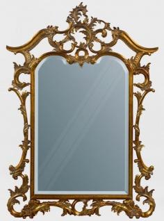 Casa Padrino Luxus Barock Mahagoni Spiegel Antik Gold 100 x 4 x H. 159 cm - Prunkvoller handgeschnitzter Wandspiegel im Barockstil - Antik Stil Garderoben Spiegel - Wohnzimmer Spiegel - Barock Möbel