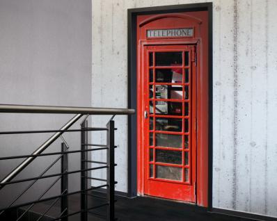 Tür 2.0 XXL Wallpaper für Türen 20019 Telephone Telefon - selbstklebend- Blickfang für Ihr zu Hause - Tür Aufkleber Tapete Fototapete FotoTür 2.0 XXL Vintage Antik Stil Retro Wallpaper Fototapete