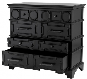 Casa Padrino Designer Mahagoni Kommode 107 x 51 x H. 101 cm - Luxus Qualität - Vorschau 2