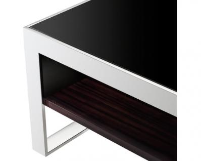 Casa Padrino Art Deco Luxus Couchtisch Ebenholz 140 x 80 x H. 35 cm - Wohnzimmer Salon Tisch - Luxus Möbel - Vorschau 2